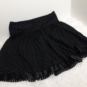 Black and Metallic Silver Skirt Full Holidays 12